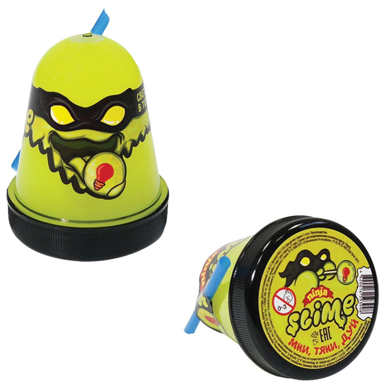 "Slim (lisun) ""Slime Ninja"", glows in the dark, yellow, 130 g, WORLD"