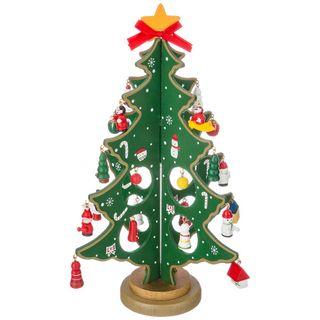 "Decor wooden ""Tree green toy"" 30cm"