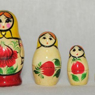 """Matryoshka """"Rossiyska"""" painted - 5 subjects"""