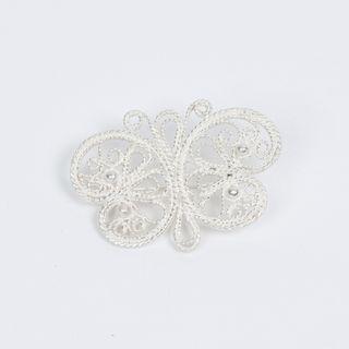 "Kazakov Filigree / Brooch ""Butterfly"" silvering"