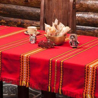 """""""Sun"""" handmade festive cotton tablecloth"""