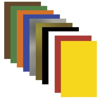 Cardboard A4 colored uncoated (matte), MAGIC, 10 sheets, 10 colors, PYTHAGORAS, 200х283 mm
