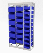Shelving container section 1607