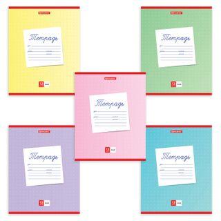 """Notebook 12 sheets BRAUBERG line, cardboard cover, """"SCHOOL"""""""