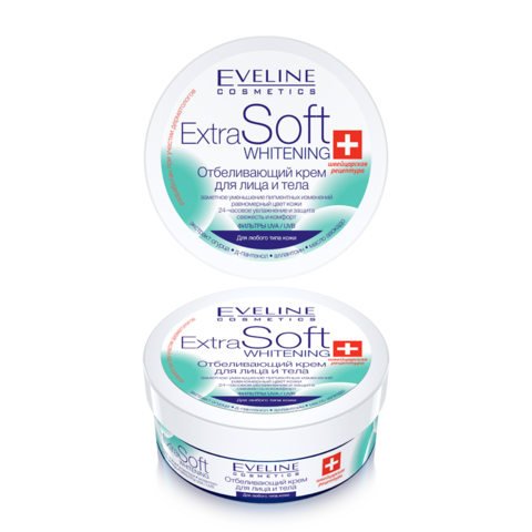 Whitening cream for face and body extra soft whitening cream, 200 ml