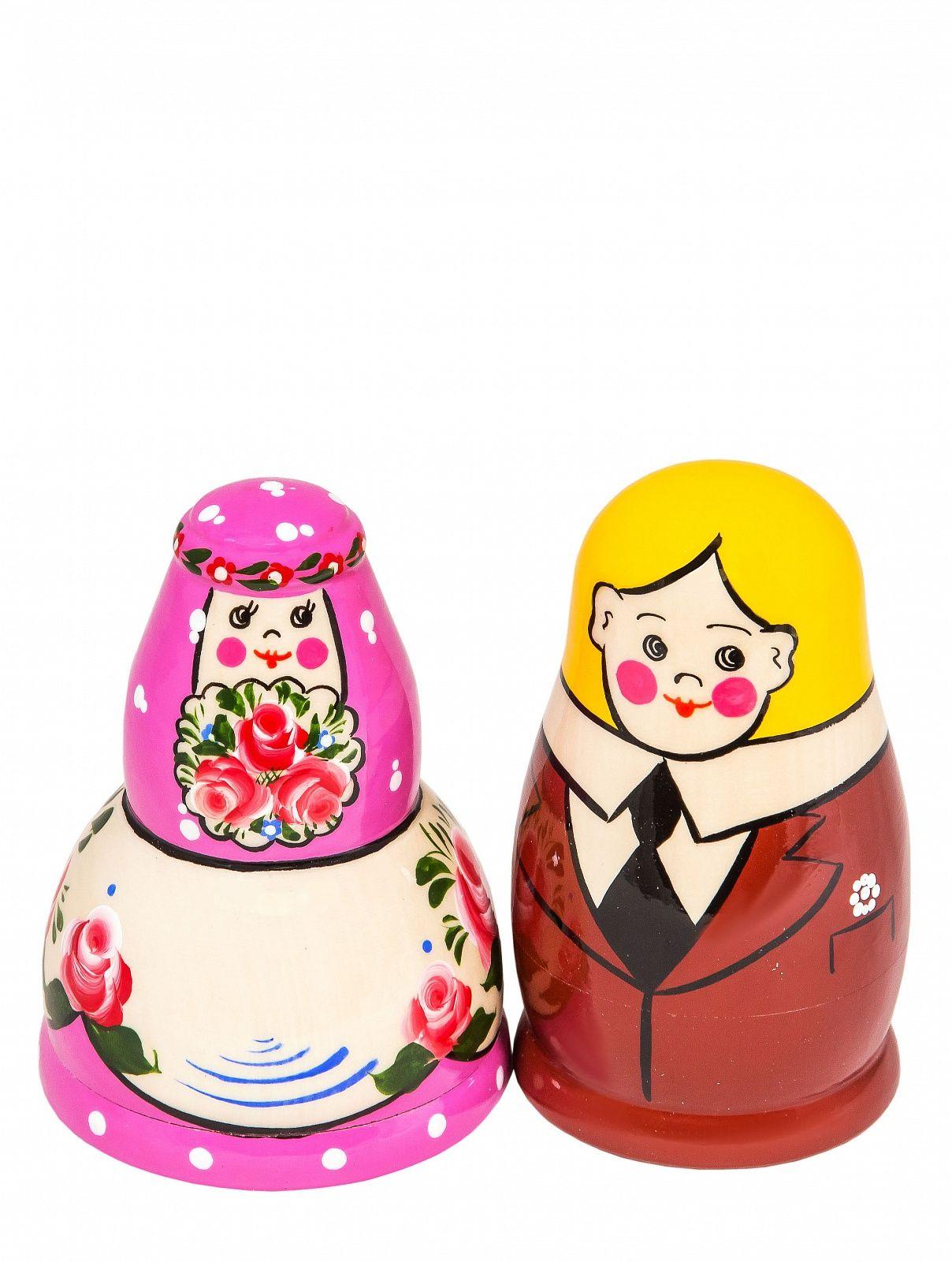 """Khokhloma painting / Matryoshka set """"Dawn"""" 6 dolls"""