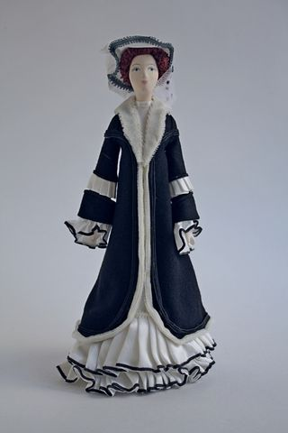 Doll gift. Female costume sketch by Leon Bakst