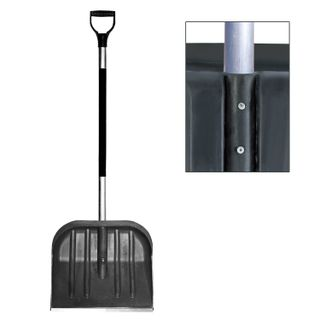 BERCHOUSE / Plastic snow shovel, 46x40 cm, height 130 cm, with aluminum handle and tip