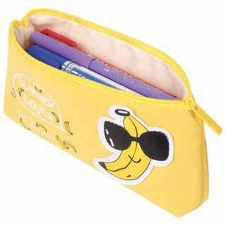 Pencil case-cosmetic bag BRAUBERG, canvas with applique,