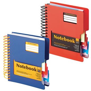 Small FORMAT Notebook (144 x 145 mm) A6, 200 sheets, spiral, plastic cover, dividers, cage, alt,