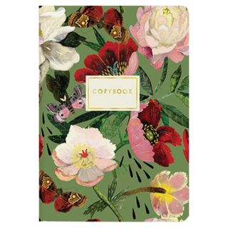 """Notebook EURO A5 40 sheets BRUNO VISCONTI stitching, cage, Soft Touch, foil, beige paper 70 g / m2, """"SUMMER"""""""