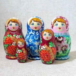 """Matryoshka """"Alenka - baby"""" 3 dolls"""