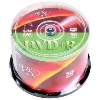 VS / DVD + R Discs 4,7 Gb 16x Cake Box, SET 50 pcs.
