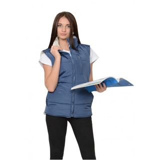 """Vest """"SNOW"""" female quilted indigo"""