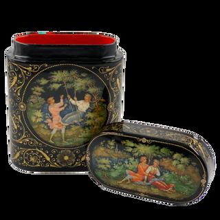 Box Palekh, 9*7*3 cm, Bydanov