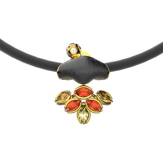 Yellow gold pendant - Alilu collection