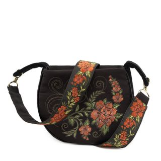 "Bag ""Clivia"" black velvet"