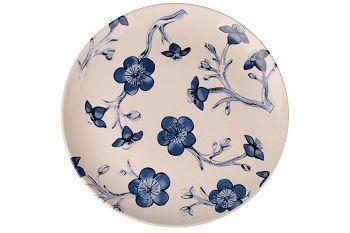 Dulevo porcelain / Plate 270 mm Blue flowers (Ceramics)