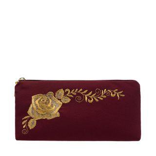 """Eyeglass case """"Rosa Alba"""" burgundy"""