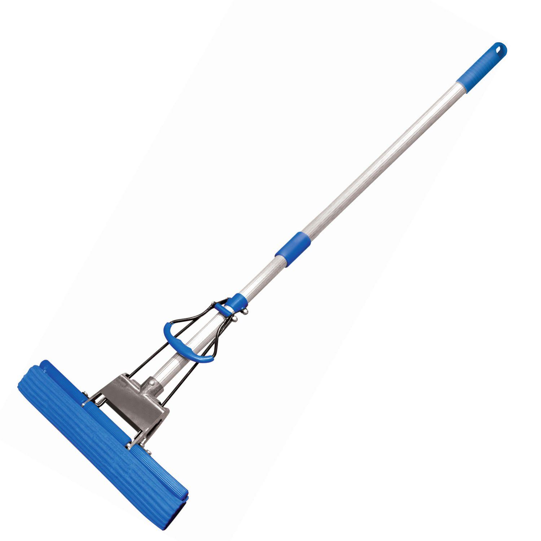 "YORK / Self-wringing mop ""Top"", roller wringing, PVA attachment 27 cm, telescopic handle 65-120 cm"