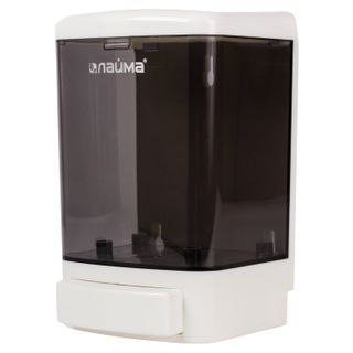 LAIMA / Liquid soap dispenser, 1 l, ABS, white (tinted)