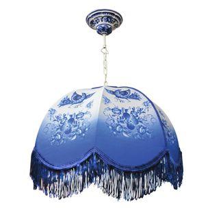 Lamp decorative pendant Blue bird Gzhel Porcelain factory