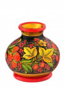 """Khokhloma painting / Vase """"Lady"""" 120x130 mm"""