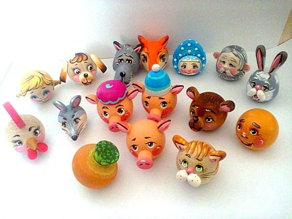 "Tver souvenirs / Fairy-tale characters ""Puppet theater"", 16 pcs."