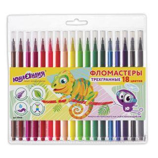INLANDIA markers 18 colors, ZOO, triangular, washable, ventilated cap