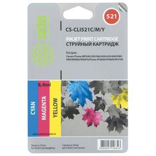 Inkjet cartridge CACTUS (CS-CLI521C / M / Y) for CANON Pixma MP540 / 630/980, set of 3 colors