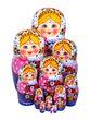 Matryoshka dolls 12 author, Golden Khokhloma - view 1