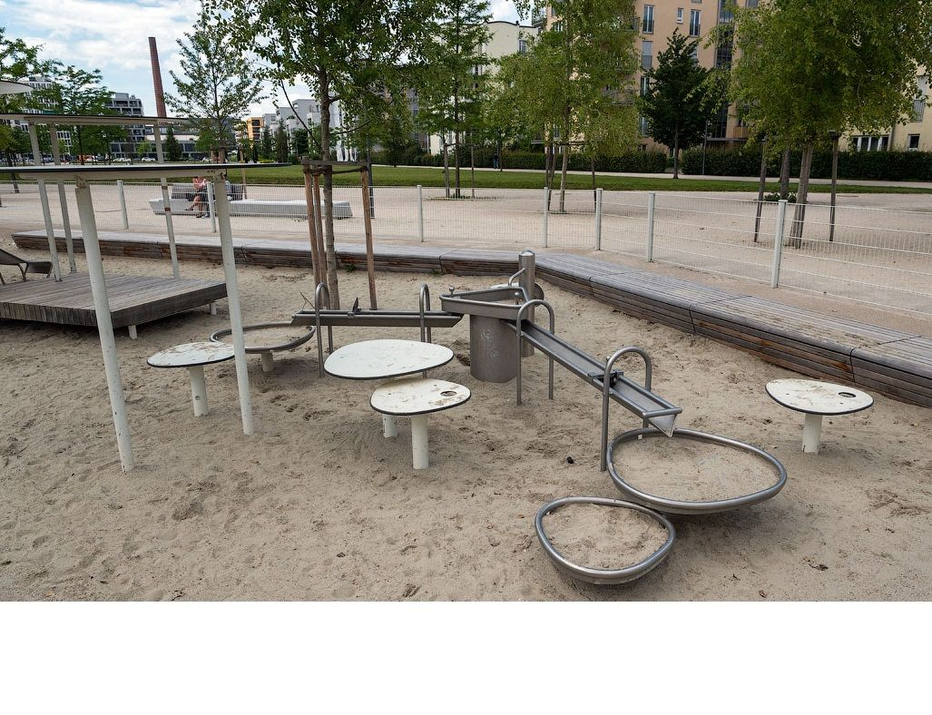 "Hercules / Children's playground for games with sand and water ""Oasis"""