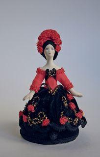 Doll gift porcelain. Rose. Box.