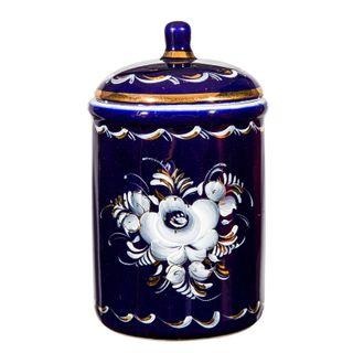 Bank Bouquet cobalt paint gold, Gzhel Porcelain factory