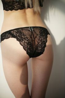 Lace panties Black pearl