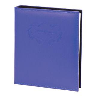 Photo album BRAUBERG 20 magnetic sheets, 23х28 cm, smooth skin, with rings, blue
