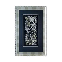 Painting 'Morning' in black with silver embroidery