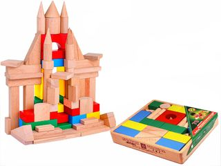 DESIGNER wooden TABLE in the open packaging in the thermo - 70 parts colored for children from 3 years