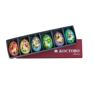 Zhostovo / Set of 6 Zhostovo Easter eggs
