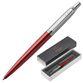 Ballpoint pen PARKER 'Jotter Core Red Kensington CT', housing red, chrome, blue - view 1