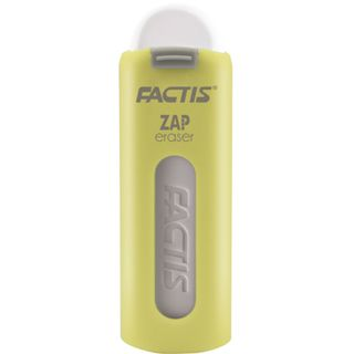Eraser FACTIS ZAP (Spain), 75x7x8 mm, white, extendable, PVC