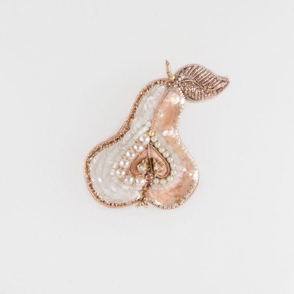 "Brooch handmade ""delicate Pear"""