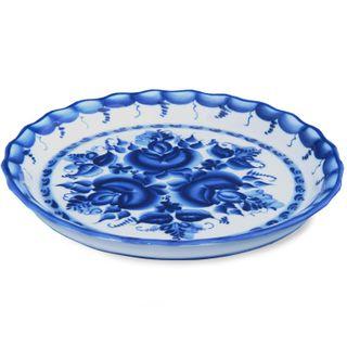 Plate Elegy 2nd grade, Gzhel Porcelain factory