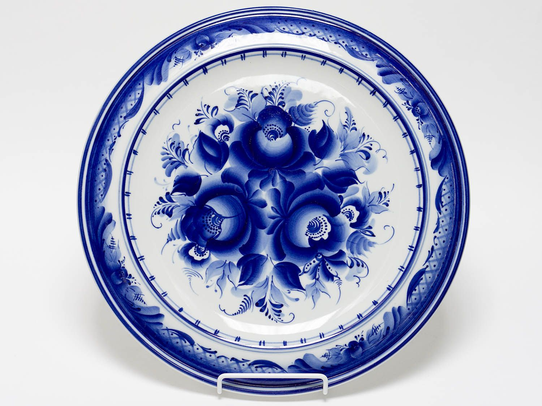 Dulevo porcelain / Wall plate Flowers, diameter 300 mm