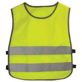 Children's vest REFLECTIVE, size 26-30, height 92-116 cm, 2-6 years old, bright green (lemon)