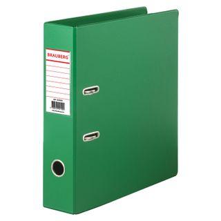Folder-Registrar BRAUBERG with double-sided PVC coating, 70 mm, light green