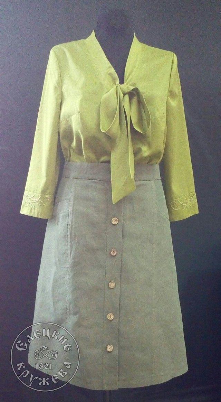 Yelets lace / Women's linen skirt С11699