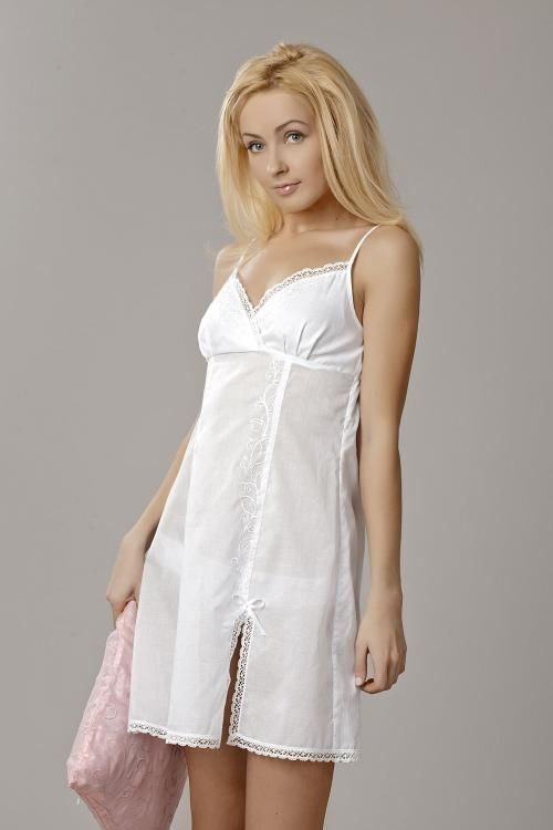 "Chemise nightwear women's ""Sweet fantasy"" embroidery and lace"