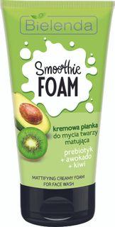 Normalizing cream-colored foam, the aroma of Avocado and Kiwi SMOOTHIE WASH, BIELENDA, 135g