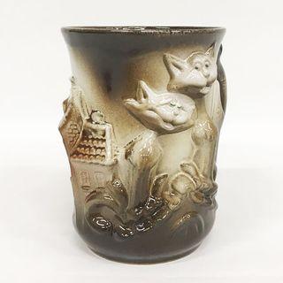 """Ceramic embossed mug """"Stylish cats"""""""